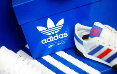 adidas blue shoe box