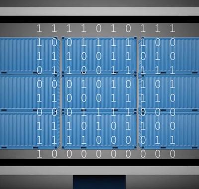 Computerscherm met binaire cijfers