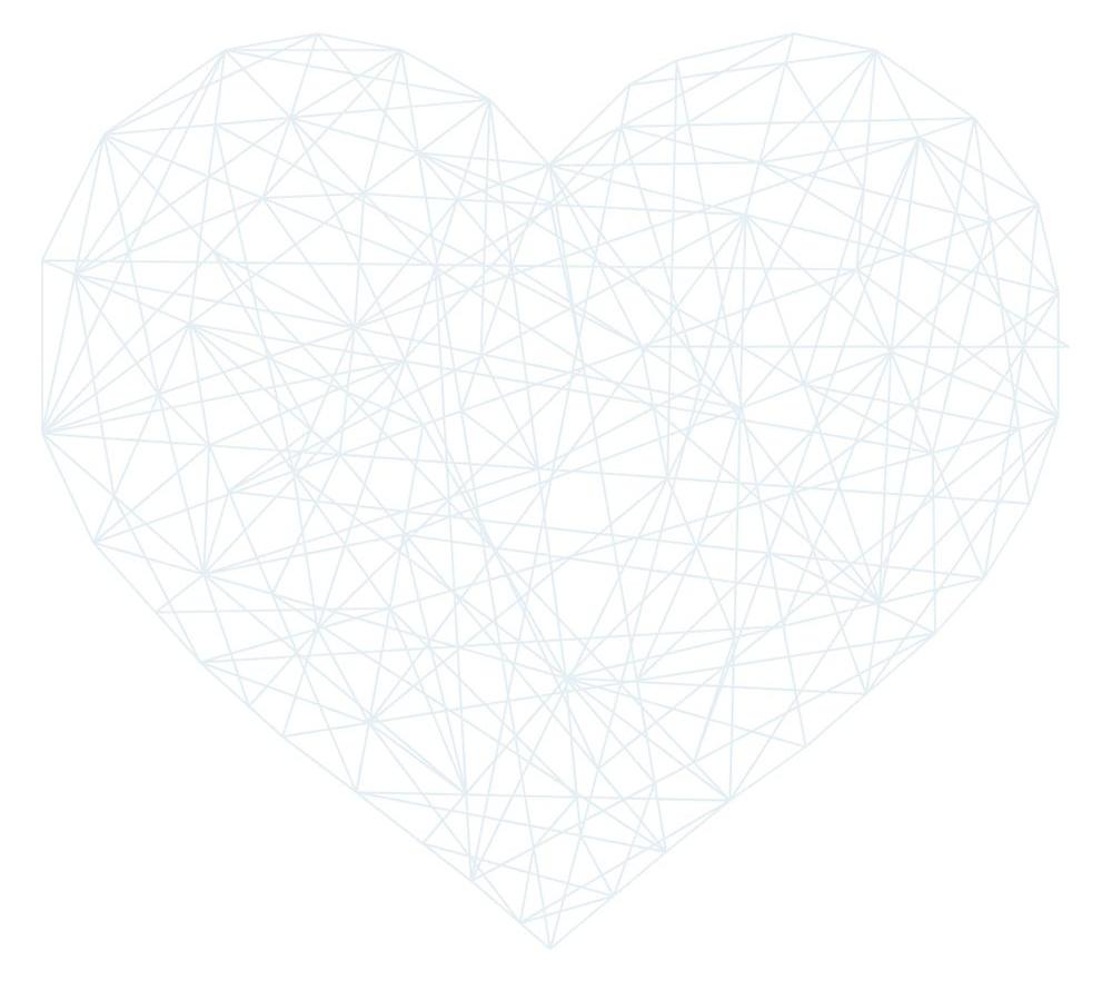Hart gevormd door lijnen.