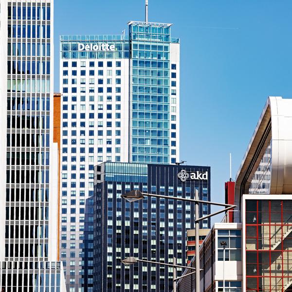 Kantoren in Rotterdam, foto van Iris van den Broek