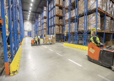 Image of Action employees working in the Distribution Center