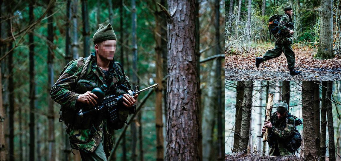 KCT oefening in een bos